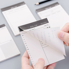50 Sheets Simple Business Day Plan Notebook Scratch Pad Tearable Notepad Schedule Note Small Memo