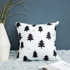Nordic Style Black and White Geometric Pillowcase English Alphabet Sofa Cushion Bedding Pillow Cover 2 45*45cm Cover