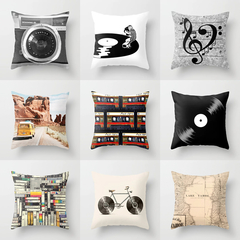 Classic Record Camera Pillow Case for Car Office Lumbar Home Textile Sofa Cushion Cover Pillowcase 1 45*45cm