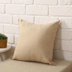 100% Cotton Pillow Case Sofa Cushion Cover Home Bedroom Pillowcase Car Office Lumbar Pillow Case Beige 45*45cm