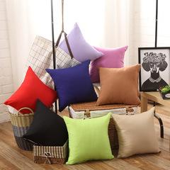 Brushed Cotton Pillow Cover Sofa Cushion Pillows Home Bedroom Pillowcase Lumbar Pillow Case Green 45*45cm