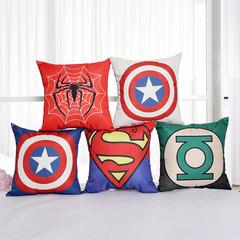 Marvel Avengers Pillowcase Super Hero Pillow Cover Home Sofa Cushion Pillow Boys Bedroom Pillowcase Spiderman 45*45cm cover