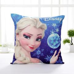 Frozen Elsa Princess Disney Cartoon Sofa Cushion Pillow Cover Girls Bedroom Pillowcase 3 45*45cm cover