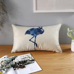 Cotton Linen Lucky Deer Home Sofa Cushion Pillow Cover Pillowcase Nordic Style Bedroom Pillows Case 2 30*50cm