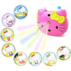 Hello Kitty Light Projection Camera Children Educational Toys for Kids Projection Cartoon Camera Hello Kitty 8.5*7.5*4cm
