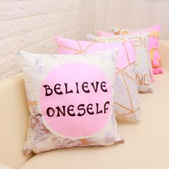 Ins Hot Pillow Cushion Cover Marble Hug Pillow Case Bedside Living Room Home Sofa Pillowcase 1 45*45cm