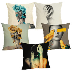 Sexy Goddess Pillow Case Art Style Cushion Cover Sofa Home Decoration Bedroom Office Pillowcase 3 45*45cm