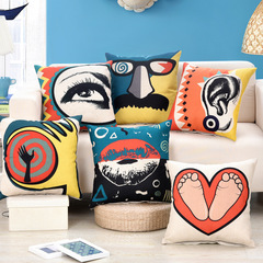 HHM HOME Abstract Style Pillow Case Cushion Cover Kilimall Kenya 5th Home Sofa Bedroom Pillowcase 1 45*45cm