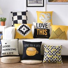 [500-30] Geometric Sofa Cushion Cover Pillow Case for Soft Decoration Bedroom Car Lumbar Pillowcase 1 30*50cm