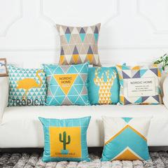 Modern Geometric Linen Pillowcase Nordic Nature Style Home Decorative Bedroom Sofa Pillowcase H1 45*45cm
