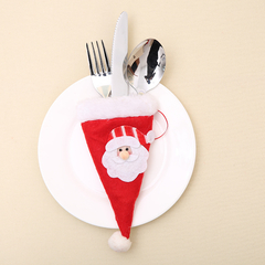 Santa Claus + Snowman Flatware Cultery Cover Xmas Knife Fork Holder Christmas Dinner Table Decor Santa Claus 1pc