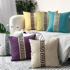New Modern European Style Cotton Linen Pillowcase Office Home Decoration Bedding Sofa Cushion Cover Beige 45*45cm
