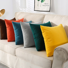 Nordic Home Plain Color Quality Velvet Pillow Case Cushion Cover Home Decor Sofa Bedroom Pillowcase Coffee 30*50cm