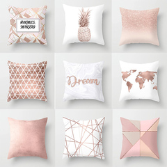Geometric Pink Pineapple Pillow Case Nordic Style Home Sofa Cushion Cover Bedroom Pillow Case 1 45*45cm