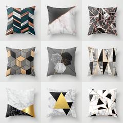 Geometric Marble Black Pink Lumbar Pillow Cushion Cover Home Sofa Pillow Case Bedroom Pillowcase 1 45*45cm
