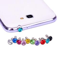Colourful Cellphone dustproof plug for all smart phone 35mmrandom color random 35mm