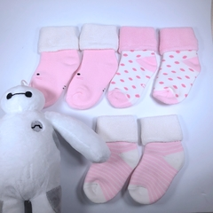 Baby socks, high quality cotton, very comfortable, very cute, three pairs of one bag Baby 6-12 months as the picture shows