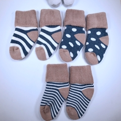 Baby socks, high quality cotton, very comfortable, very cute, three pairs of one bag Baby 1-3 years old as the picture shows