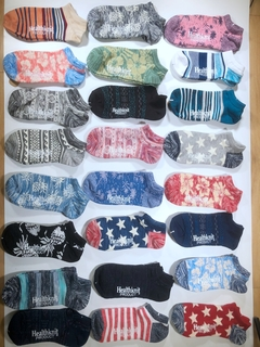 Healthknit brand socks, summer models, low waist socks, good cotton, beautiful style. Random 2 styles free size free size