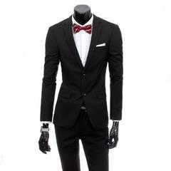 Men's suit self-cultivation professional business best man's dress bridegroom's suit blue s