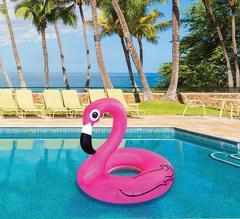 120 cm inflatable flamingo fashion swimming ring pink 120cm
