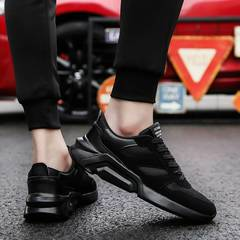 New trend cool shoes sports leisure running shoes slip wear comfortable men's shoes black 39
