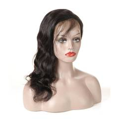 100 % real hair hand woven 4 * 4 Lace Wig 10inch black 8inch