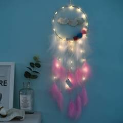 International Trends Cloud Dream Catcher Birthday Holiday Gift Pendant Christmas(bright)