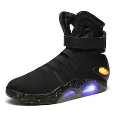 Limited edition back to the future warrior led luminous technology sense men's basketball shoes black 39