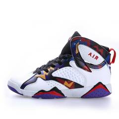 Joe 7 new breathable non-slip wear men and women couple basketball shoes white 35