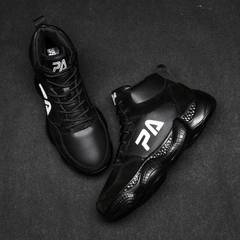 Grandpa 500 high to help new sports and leisure comfortable basketball men's sports shoes black 39