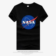 European astronaut nasa galaxy print fashion cotton half sleeve sports t-shirt black l cotton