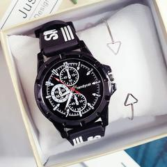 Multi - dial fashion bf wind simple casual couple youth watches black same
