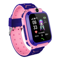 2019 Mobile Week New technology children's intelligent positioning waterproof photo watch phone pink same
