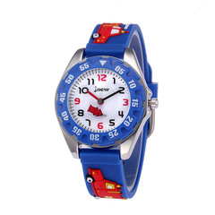 Pupil children 3D fashion cartoon waterproof Shi Ying silicone watches blue same