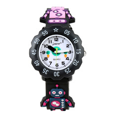 Children's fashion 3D cartoon robot Shi Ying waterproof personality student watches black same