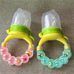 New baby feeding pacifier with bell shape fruit and vegetable bite music random 2 month+