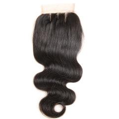 4*4 human hair Real wig micro curly hair block black 6 inch