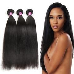100% human hair women real person wig straight hair curtain black 8 inch