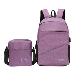 Two-piece❤backpack❤schoolbag❤travelling bag❤leisure bag❤laptop bag❤high-capacity❤fashion❤bag purple one size