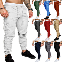 Men Trousers Sweatpants Harem Pants Casual Jogger Sportswear Slacks Dance Baggy White M