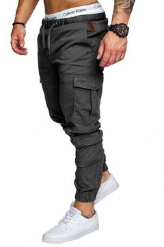 Men Trousers Sweatpants Harem Pants Casual Jogger Sportswear Slacks Dance Baggy Deep gray L