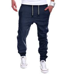 Men's Sport Pants Long Trousers Tracksuit Fitness Workout Joggers Gym Sweatpants navy xl