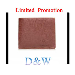 Men's Bifold Leather Wallet Limited Promotion Credit Card Holder Billfold Purse Clutch Brown one Size