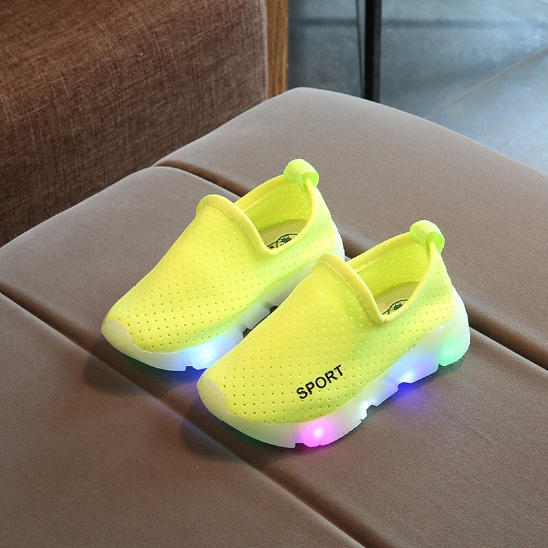 9baff21d44f New Breathable Mesh Fashion LED Light Casual Sneaker Shoes Kids Baby ...