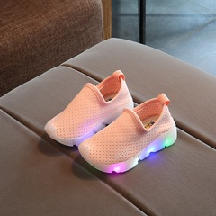 New Breathable Mesh Fashion LED Light Casual Sneaker Shoes Kids Baby Girls Boys Gift 1 LED light pink 21