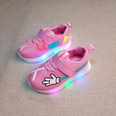 Spring New Arrival Fashion LED Light Casual Sneaker Shoes Kids Baby Girls Boys Gift 1 LED light pink 21