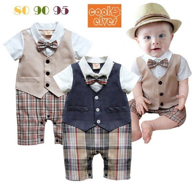 61e6640313865 Gentleman Kids Baby Boys Suits Bow Tie Tops+Cotton Pants Vest Clothes  Outfits Set photo color 1 80