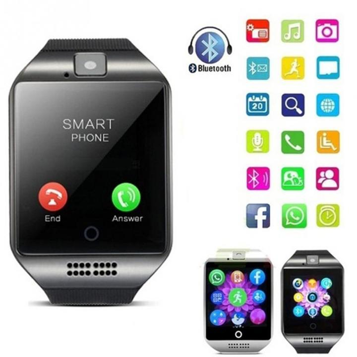 Bluetooth Alarm Smart Watch With SIM Card WristWatch Smartwatch for IOS Android iPhone Clock Camera black one size