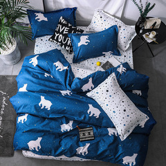 Home Textile Cartoon Polar bear Bedding Sets Children's Beddingset Bed Linen Duvet Cover Bed Sheet zebra queen size